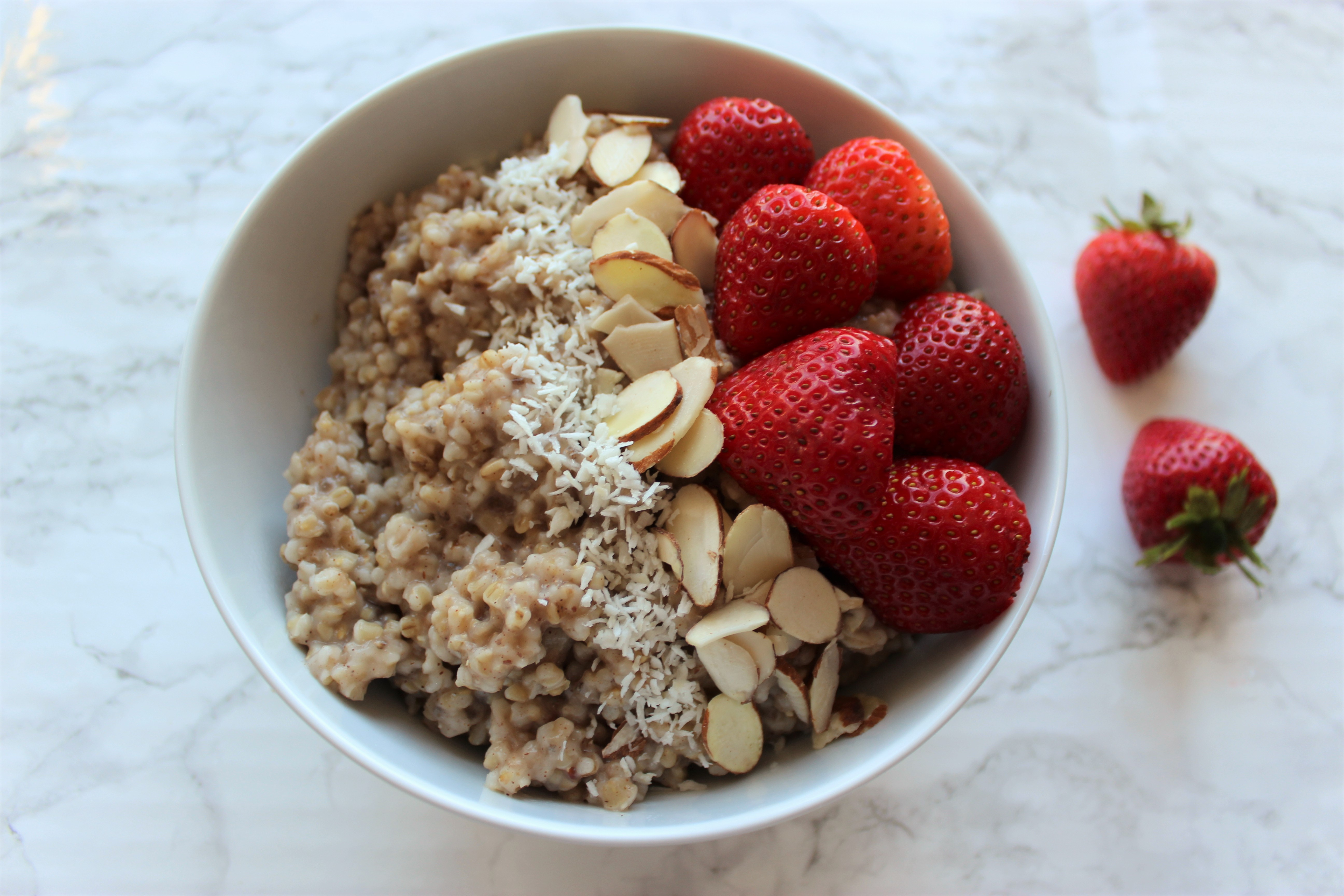 Protein Packed Steel Cut Oats [Meal Prep]